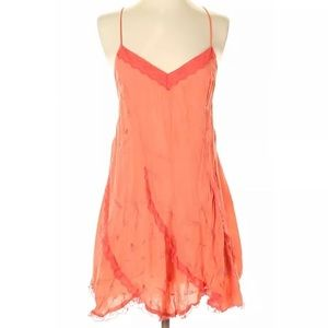 Intimately By Free People Women Orange Dress P